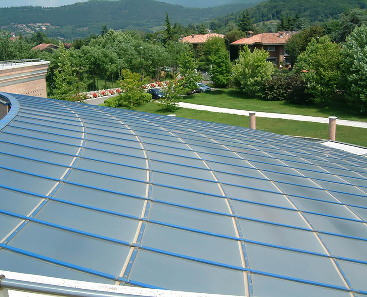 Pellicole solari su lucernario