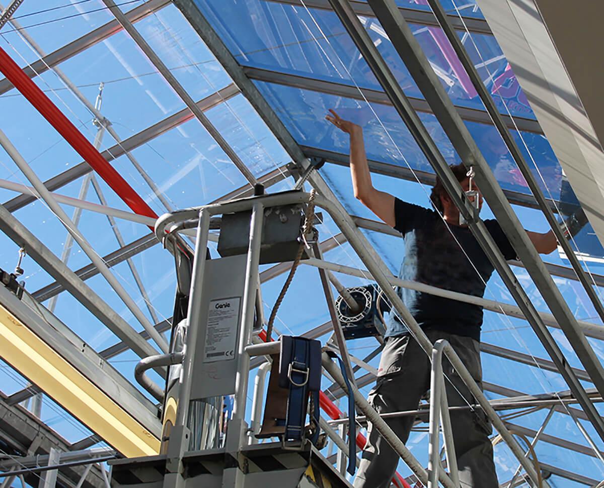 Pellicola solare per interni